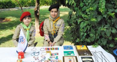 برگزاری نمایشگاه فعالیت های پیشاهنگی فارس در باغ جهان نما
