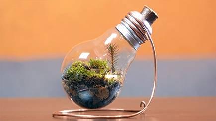 آموزش ساخت گلدان بسیار زیبا با لامپ